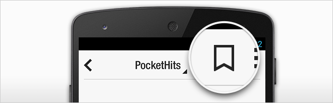 Pocket Hits on an Android phone