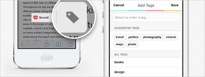 Tag Right When You Save in iOS 8