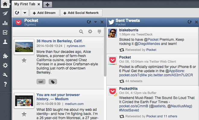 Pocket on Your Hootsuite Dashboard