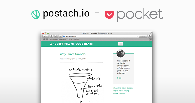 Share Anything You Save to Your Postach.io Blog