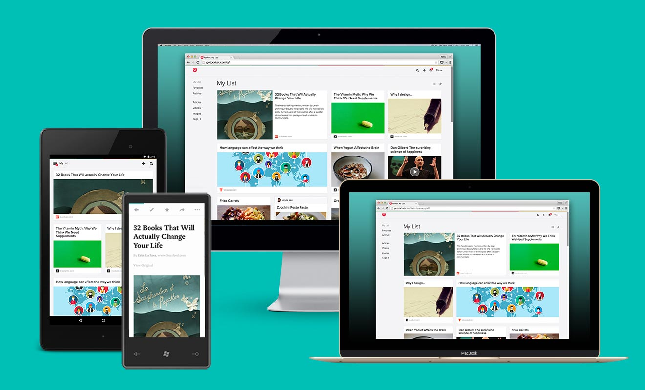All-New Redesigned and Responsive Pocket for Web
