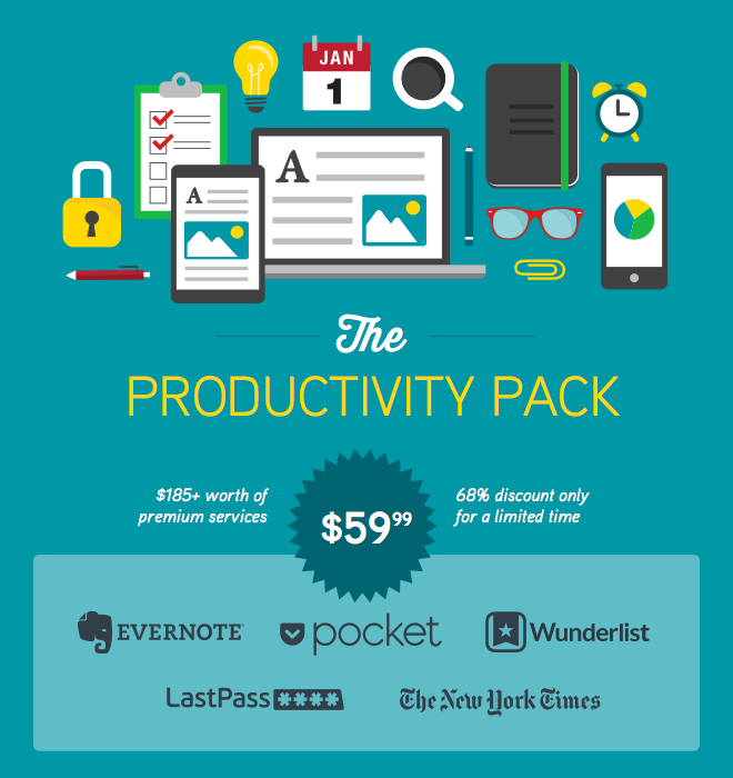 Make 2015 Your Most Productive Year Yet with $185+ Worth of Premium Services to Award-Winning Apps